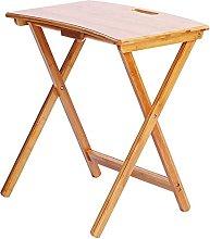 YJDQ Folding Desk Table,Laptop Table Natural Wood