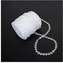YJFENG Acrylic Crystal Bead Chain, Transparent