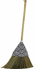 YJFENG Straw Broom Sweeping Dust Wall-Mounted Hand
