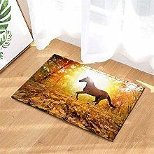 YjkAJuQeP Autumn Forest. Horse. Bathroom Floor