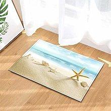YjkAJuQeP Beach. Starfish. Bathroom Floor