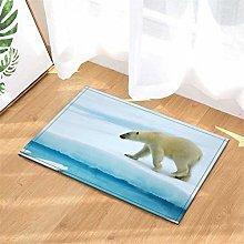 YjkAJuQeP Polar Bear. Bathroom Floor Mats.Bathroom