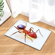 YjkAJuQeP Red Ant. Bathroom Floor Mats.Bathroom