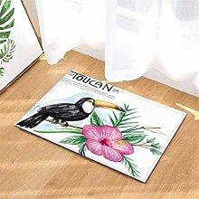 YjkAJuQeP Toucan. Flowers. Bathroom Floor