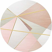 YJRBZ Modern Carpets Round Area Rug Pink Gold