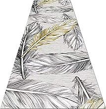 YJRBZ Passage Narrow Runner Rug, Gray Leaf Print