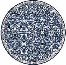 YJRBZ Retro Round Rug Living Room Carpet Fashion