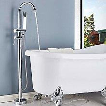 YJRIC Floor faucet Chrome Floor Mounted Bathtub