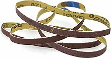 YJRIC Sandpaper Belt 10 Pieces 330 * 10mm Sanding