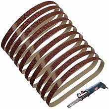 YJRIC Sandpaper Belt 10pcs 13x457mm Abrasive