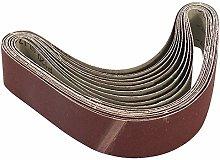 YJRIC Sandpaper Belt 10Pcs Sanding Belts for