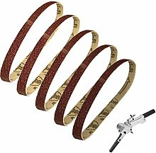 YJRIC Sandpaper Belt 5pcs 10x330mm Abrasive