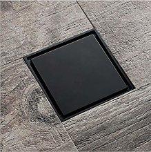 yjsb All Copper Floor Drain Square Invisible Black