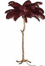 Yjswkfi Floor lamp Nordic Feather Floor Lamp