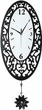 YJT.gz Silent Clock Wooden Wall Clock Black Clock