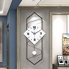 YJT.zb Modern Wall Clock with Pendulum, Solid Wood