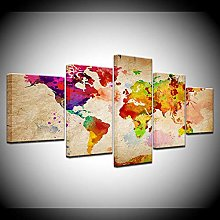 YJXL Canvas Wall Art 5 Pieces Panel - Color World