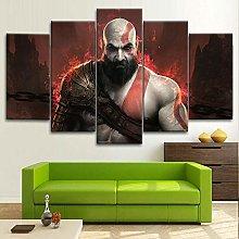 YJXL Canvas Wall Art 5 Pieces Panel - God Of War -