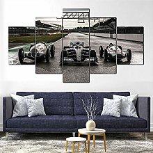 YJXL Canvas Wall Art 5 Pieces Panel - Mercedes F1