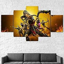 YJXL Canvas Wall Art 5 Pieces Panel - Mortal