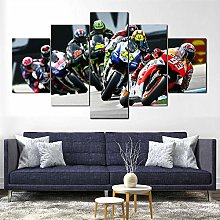 YJXL Canvas Wall Art 5 Pieces Panel - Rossi Bikes