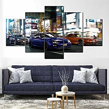 YJXL Canvas Wall Art 5 Pieces Panel - Skyline