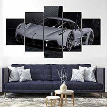 YJXL Canvas Wall Art 5 Pieces Panel - Super Car -