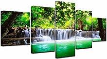 YJXL Canvas Wall Art 5 Pieces Panel - Waterfall