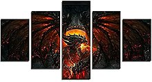 YJXL Canvas Wall Art 5 Pieces Panel - World of