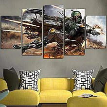 YJXL Print Painting Canvas 5 Pieces - Puzzle Wall