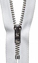 YKK Auto Lock Zip, No. 501 White, 23 cm Length