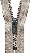 YKK Auto Lock Zip, No. 572 Beige, 18 cm Length