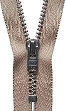 YKK Auto Lock Zip, No. 573 Fawn, 18 cm Length