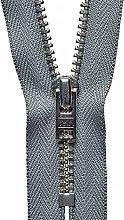 YKK Auto Lock Zip, No. 577 Mid Grey, 15 cm Length