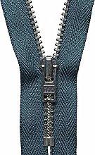 YKK Auto Lock Zip, No. 579 Charcoal, 18 cm Length