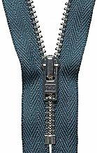 YKK Auto Lock Zip, No. 579 Charcoal, 23 cm Length