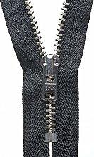 YKK Auto Lock Zip, No. 580 Black, 23 cm Length