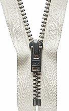 YKK Auto Lock Zip, No. 801 Light Ecru, 20 cm Length