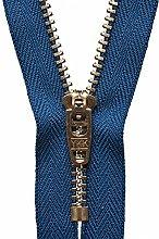 YKK Semi-Auto Lock Zip, No. 39 Royal Blue, 13 cm
