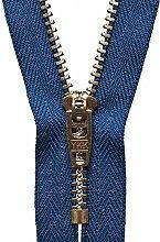 YKK Semi-Auto Lock Zip, No. 39 Royal Blue, 20 cm