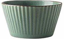 YKXWSS Bowl Ceramic Bowl Rice Bowl Dark Green