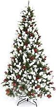 YLJYJ Artificial Snow Covered Christmas Tree
