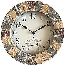 YLKCU Retro wall clock, resin wall clock,