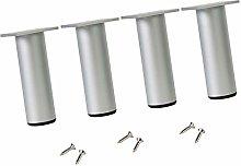 YLL 4 PCS Furniture Legs Feet Cabinet Metal Legs