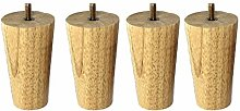 YLL Height Round Solid Wood Furniture Leg, Couch