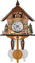 YLLQXI Cuckoo Wall Clock,Retro Clock Chalet-Style