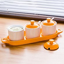 YLLTLP Spice Jars seasoning box kitchen ceramics