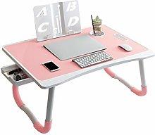 YLMF Foldable Laptop Desk, Lap Desk with Cup Slot