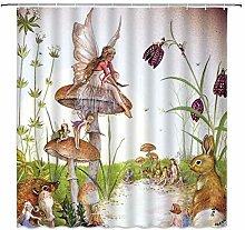 YLOIPF Shower curtainCreative Animal Plant Flower