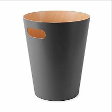 YLSH Garbage can Nordic wooden trash can simple